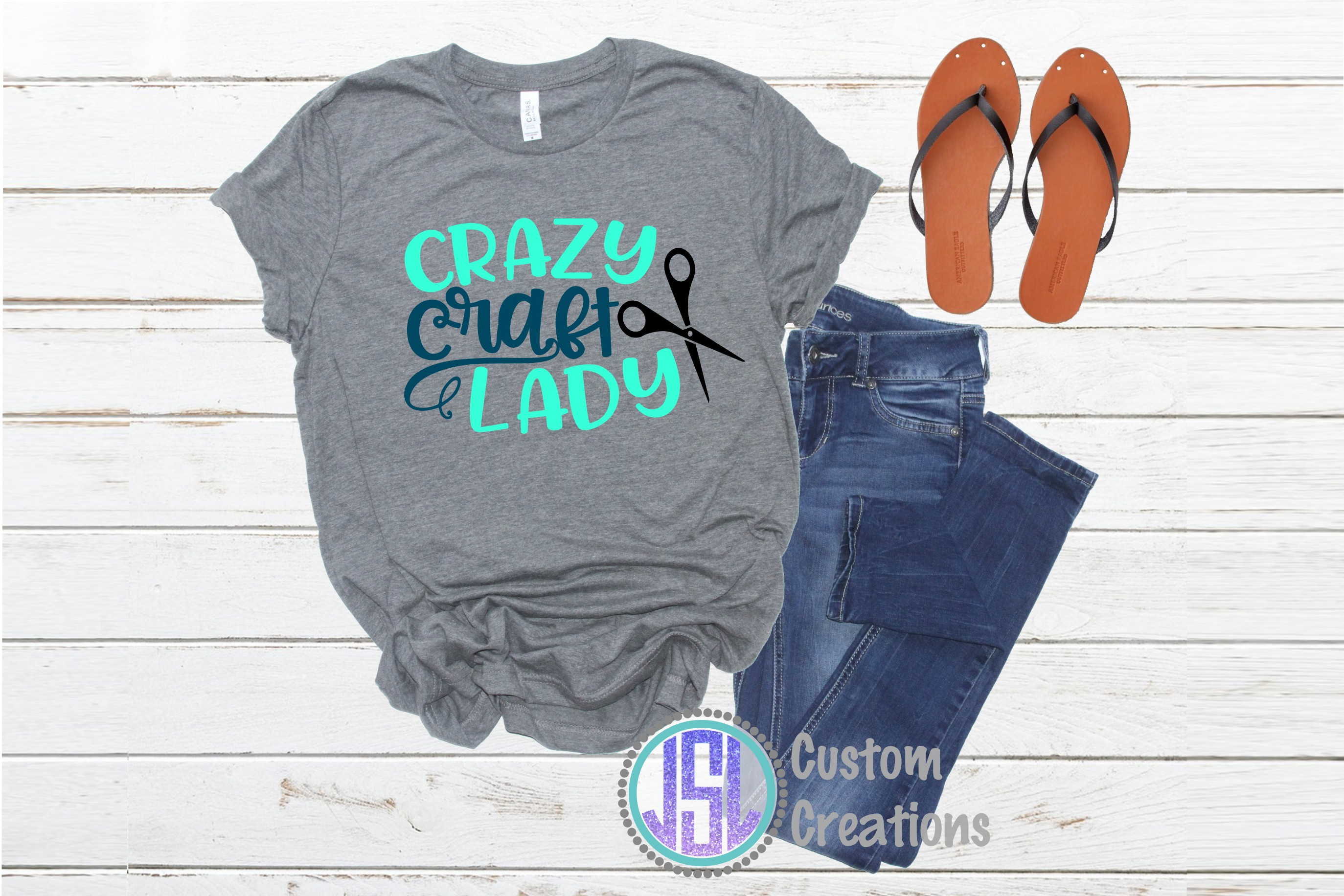 Crazy Craft Lady| SVG DXF EPS PNG | Digital Cut File example image 2