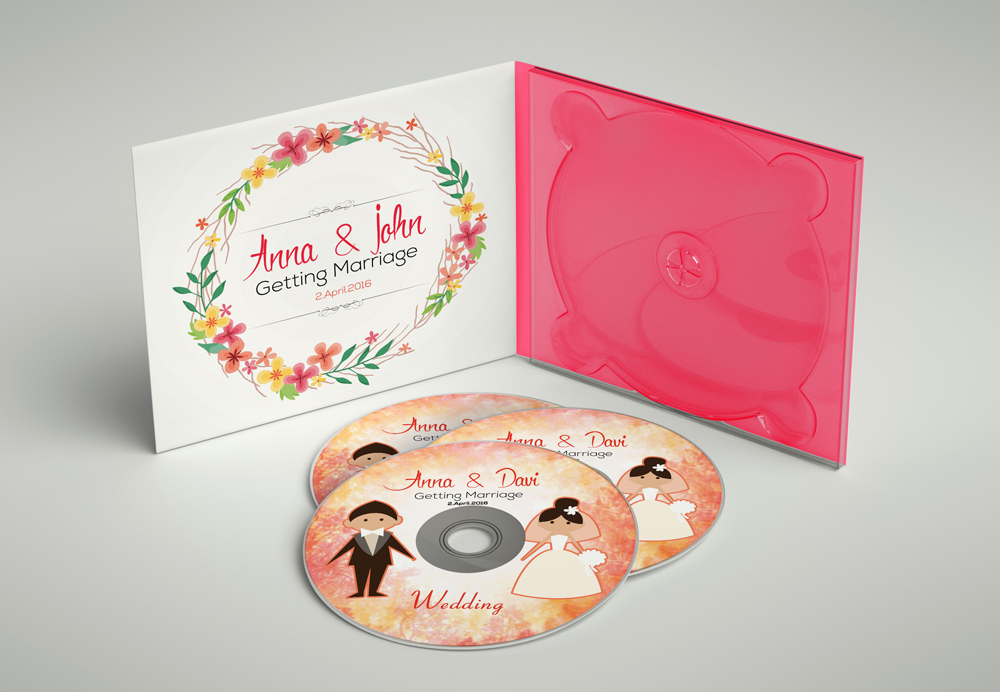 Wedding CD Covers Templates example image 2