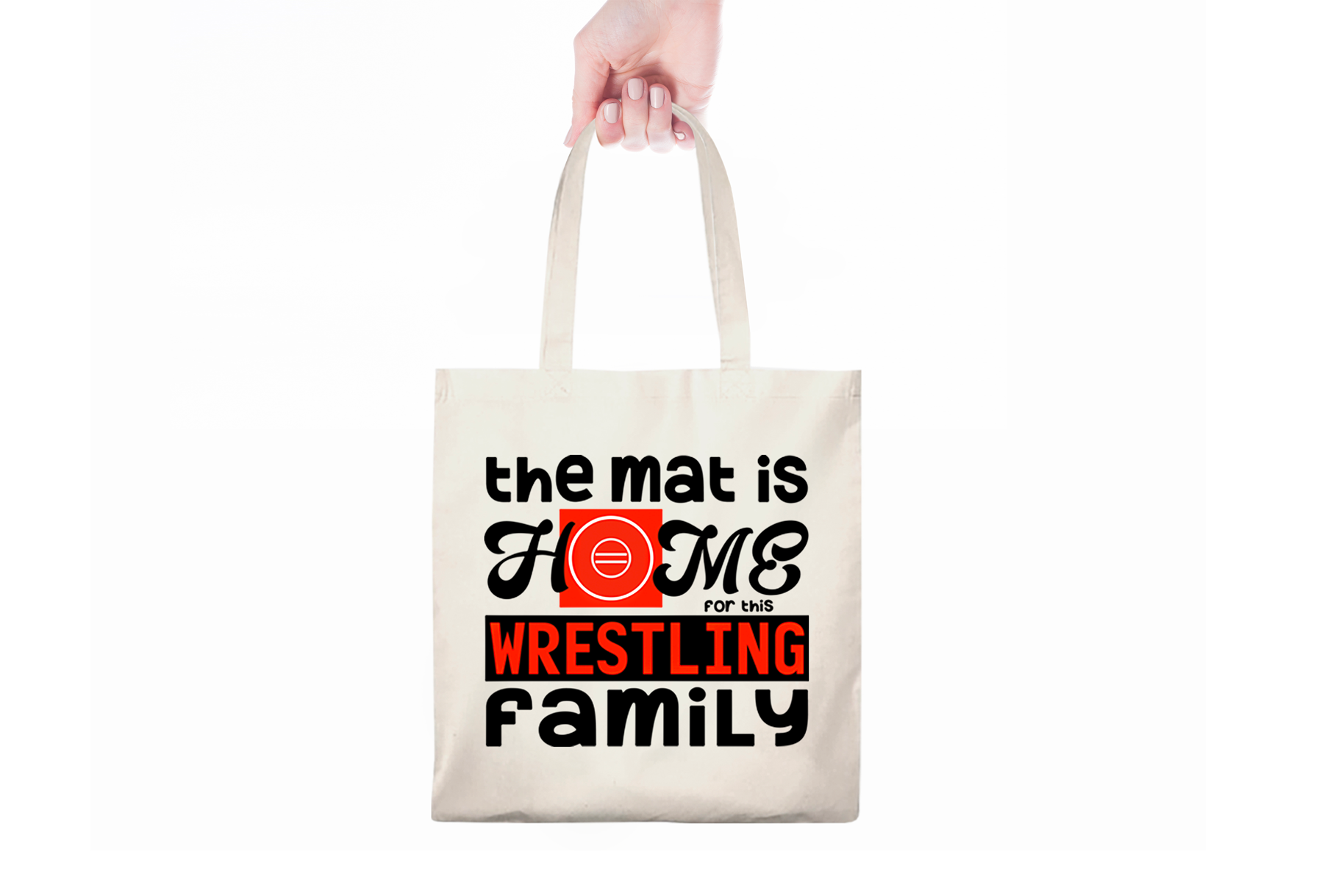 Mat is Home for Wrestling Family - A Wrestling SVG example image 3