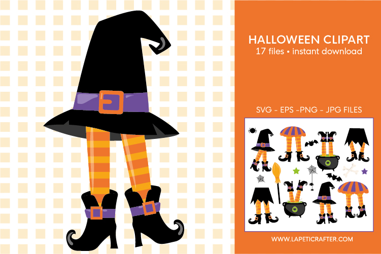 Halloween witch legs clipart, wicked witch party decorations example image 7