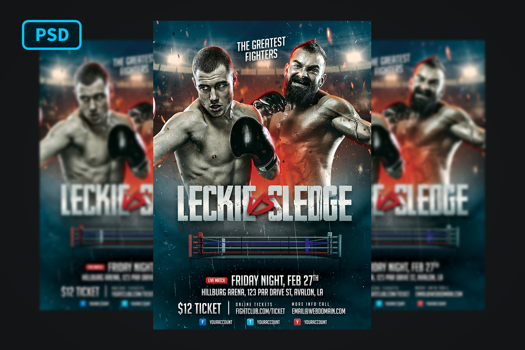 Boxing Flyer Template example image 1