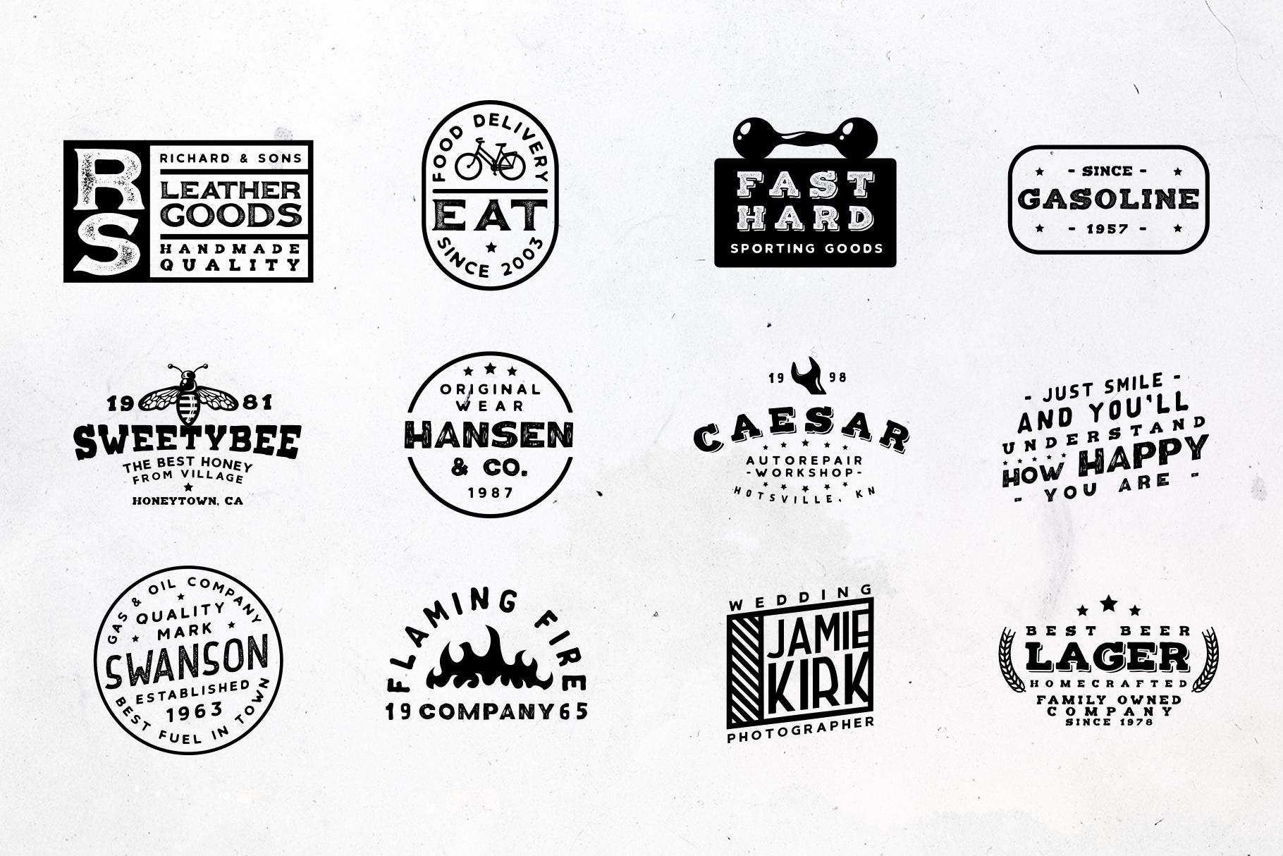 Retrospective Bundle - Fonts & Logos example image 15