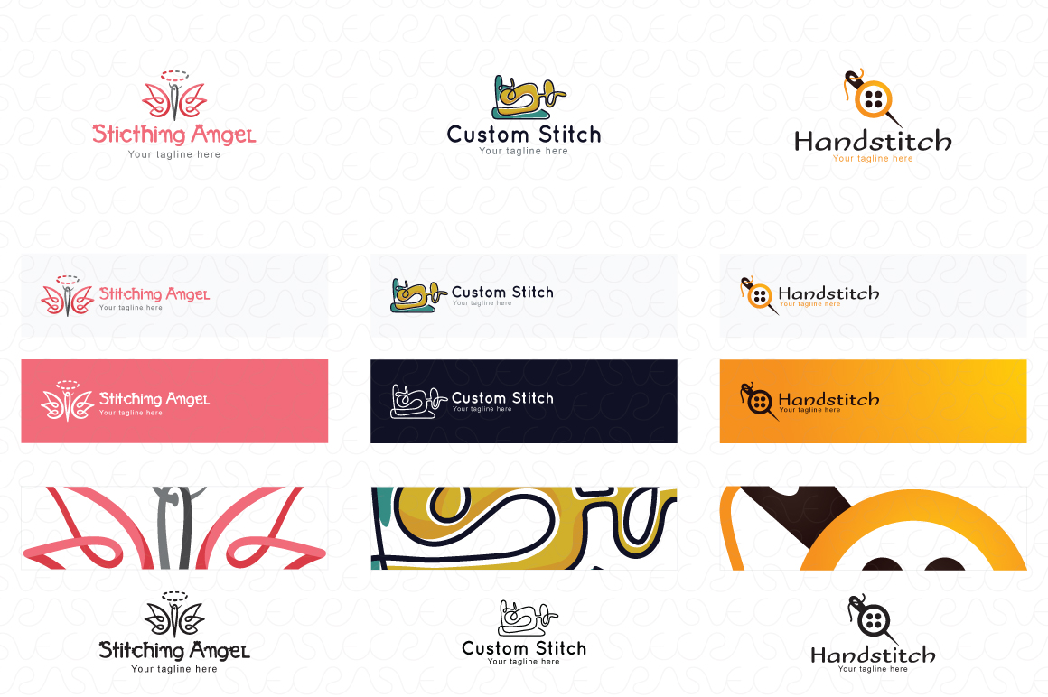 Tailoring & Boutique Logo Templates Pack of 10 example image 2