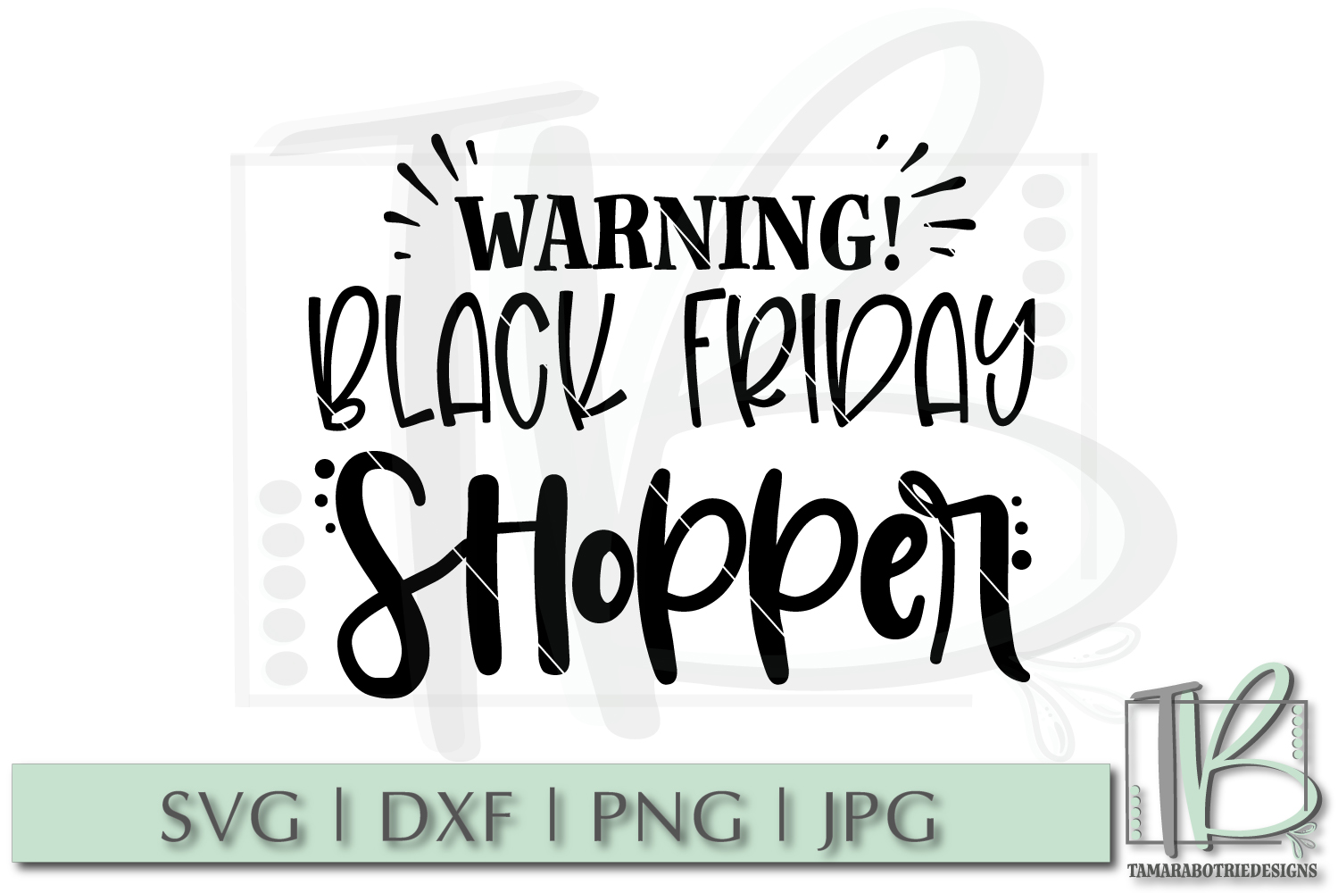 Black Friday SVG File, Warning Black Friday Shopper SVG example image 2