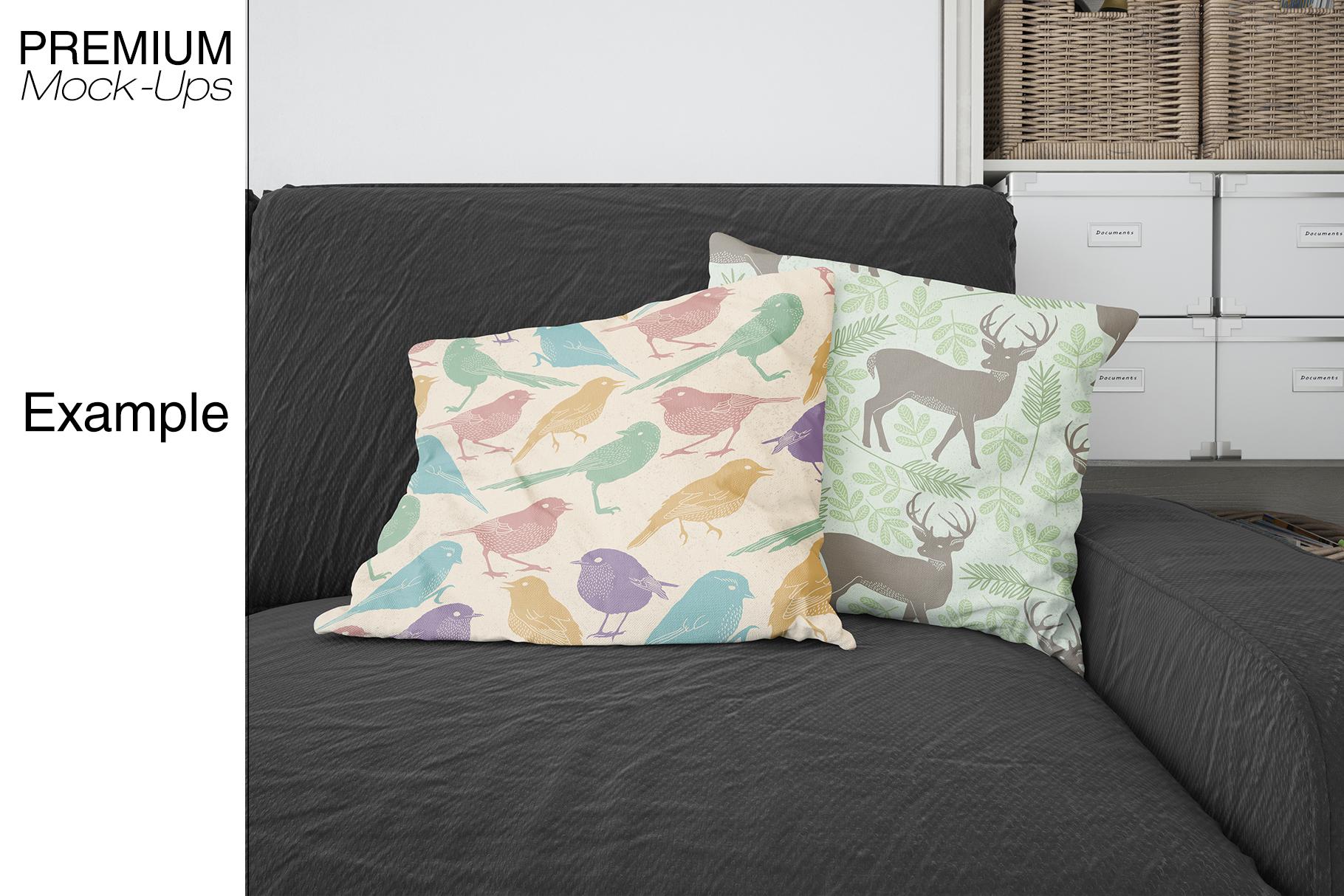 Pillows & Frames Mockup Set example image 18