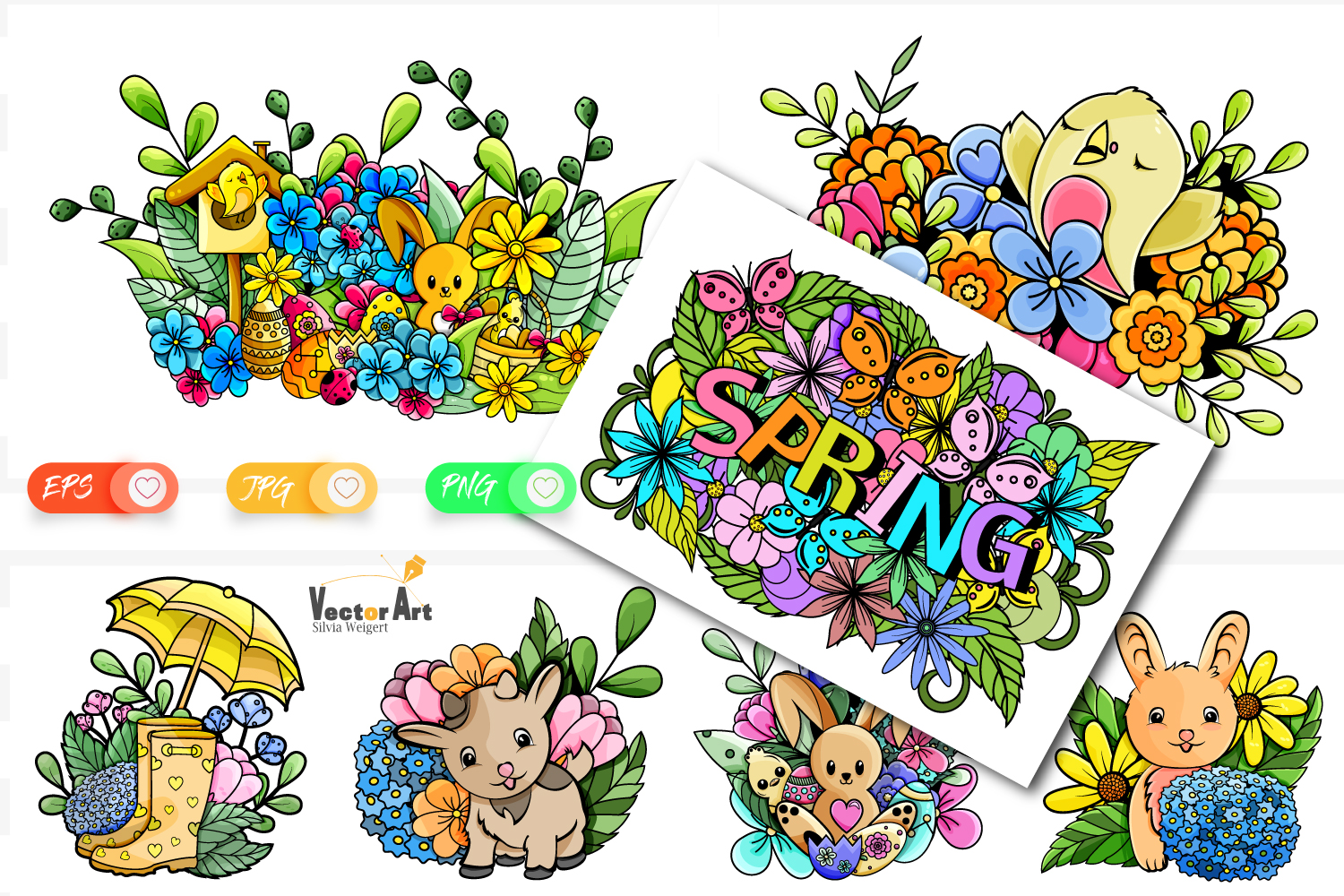 7x Easter and Spring - Mini Bundle - Print and Sublimation example image 1