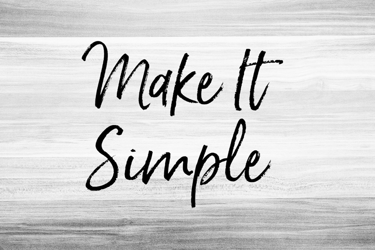 Make it Simple example image 1