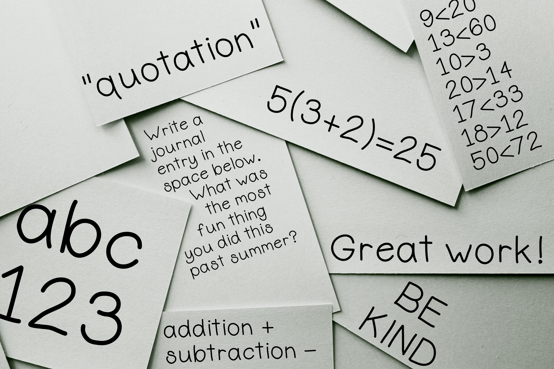 Elementary Basic - Hand Drawn Font - Handwritten Font example image 3