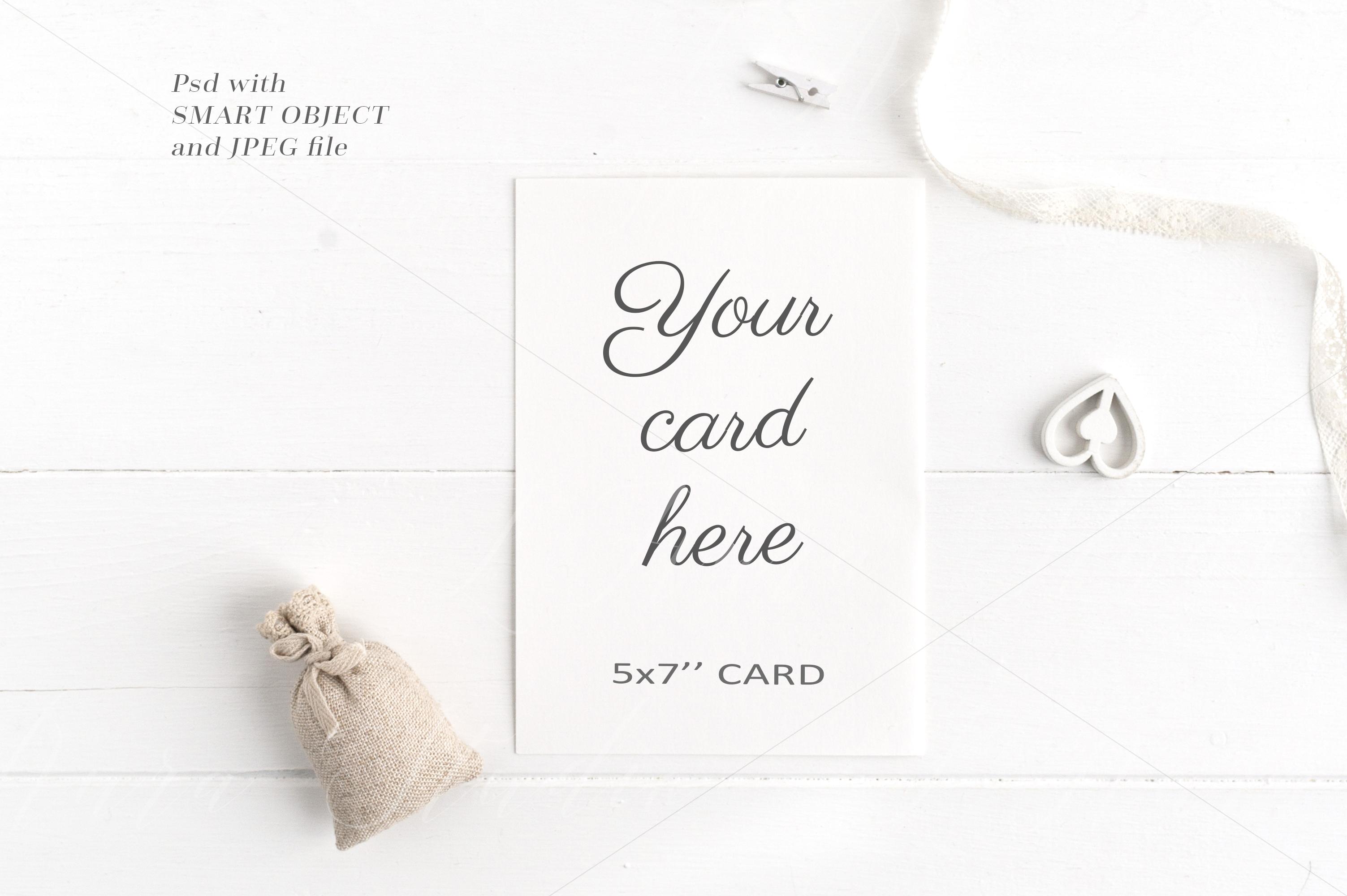 Wedding 5x7 Card Mockup - crd210 example image 1