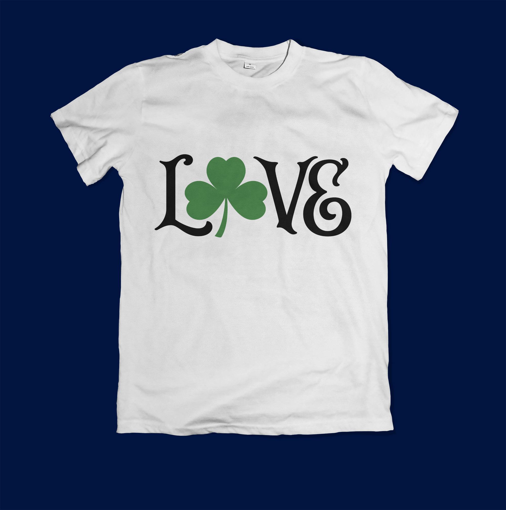 Love Shamrock SVG Cut File example image 3