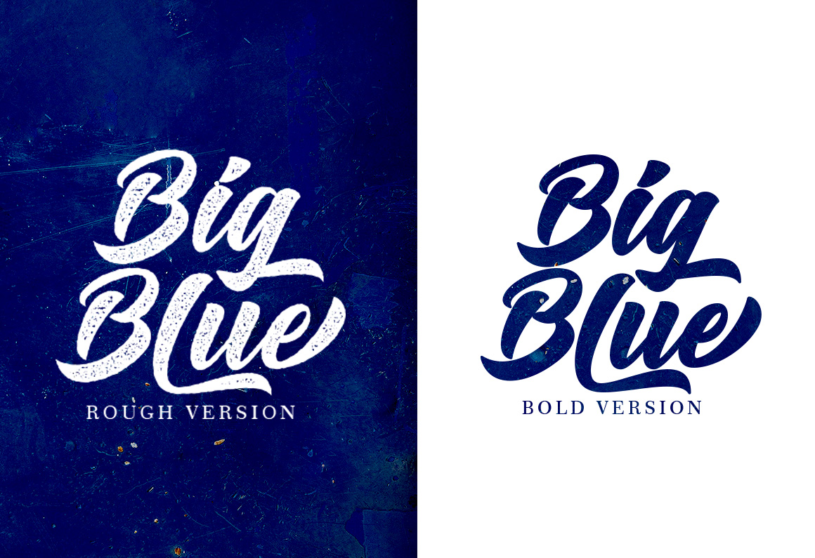Big Blue Type Trio example image 2