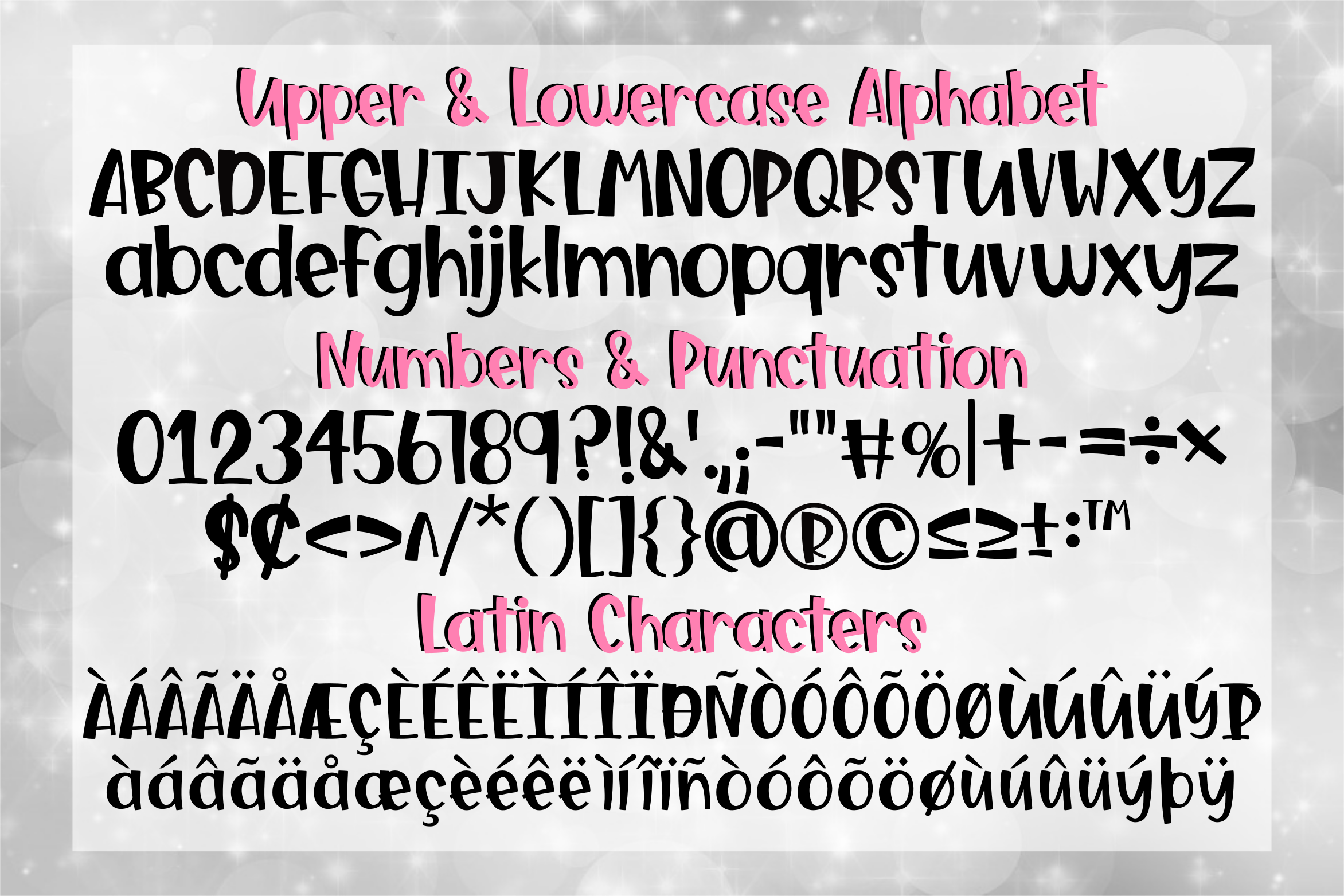 Lavish Boss - a Fun, Bouncy font with Extras example image 2