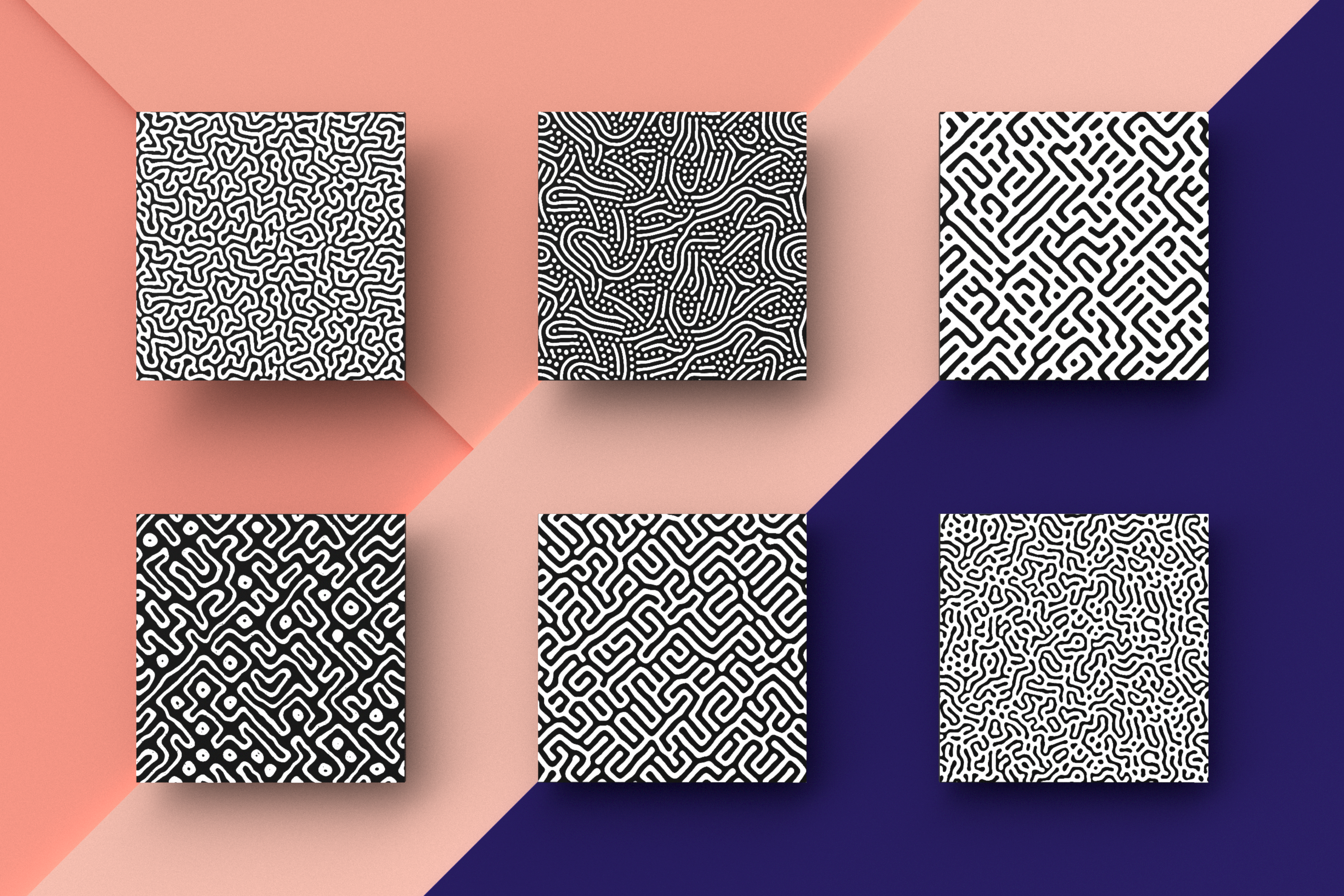 Organic Patterns - 50 trendy seamless textures example image 11