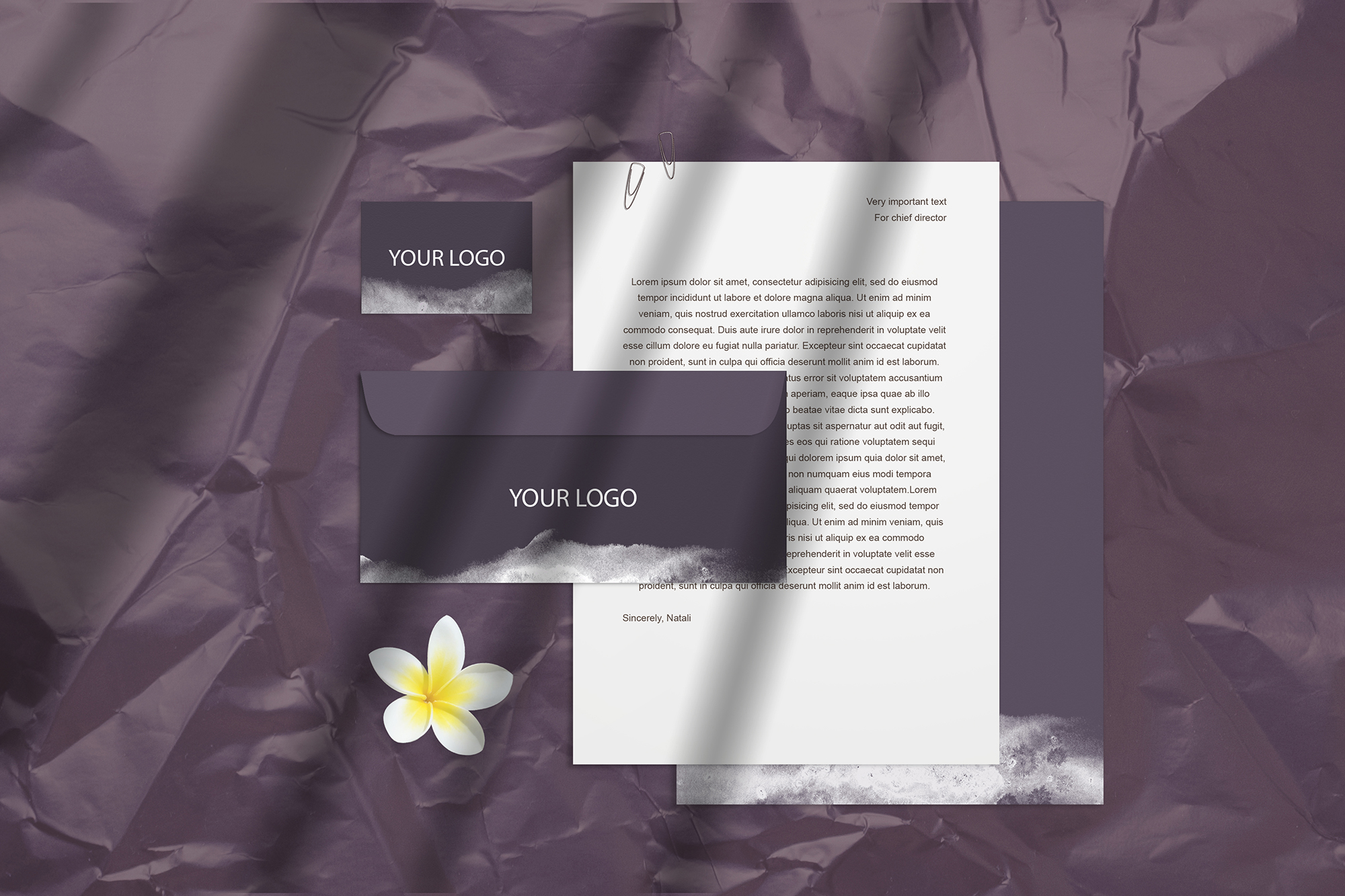 Summer Stationery Branding Mockup with Shadows example image 3