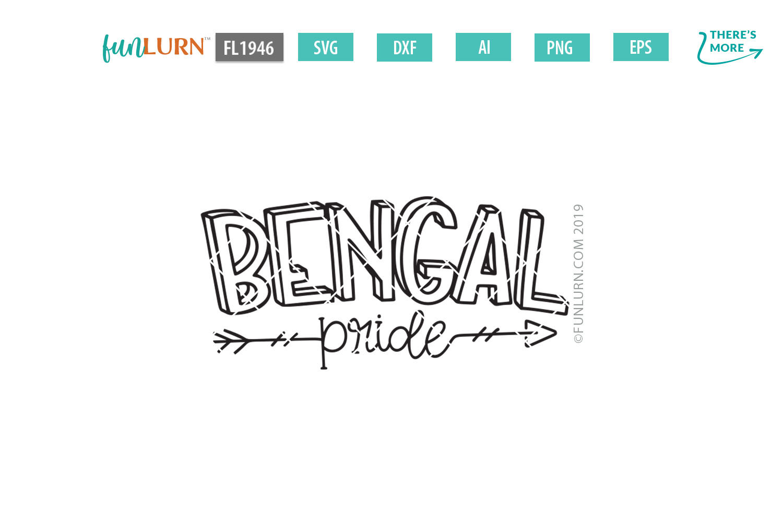Bengal Pride Team SVG Cut File example image 2