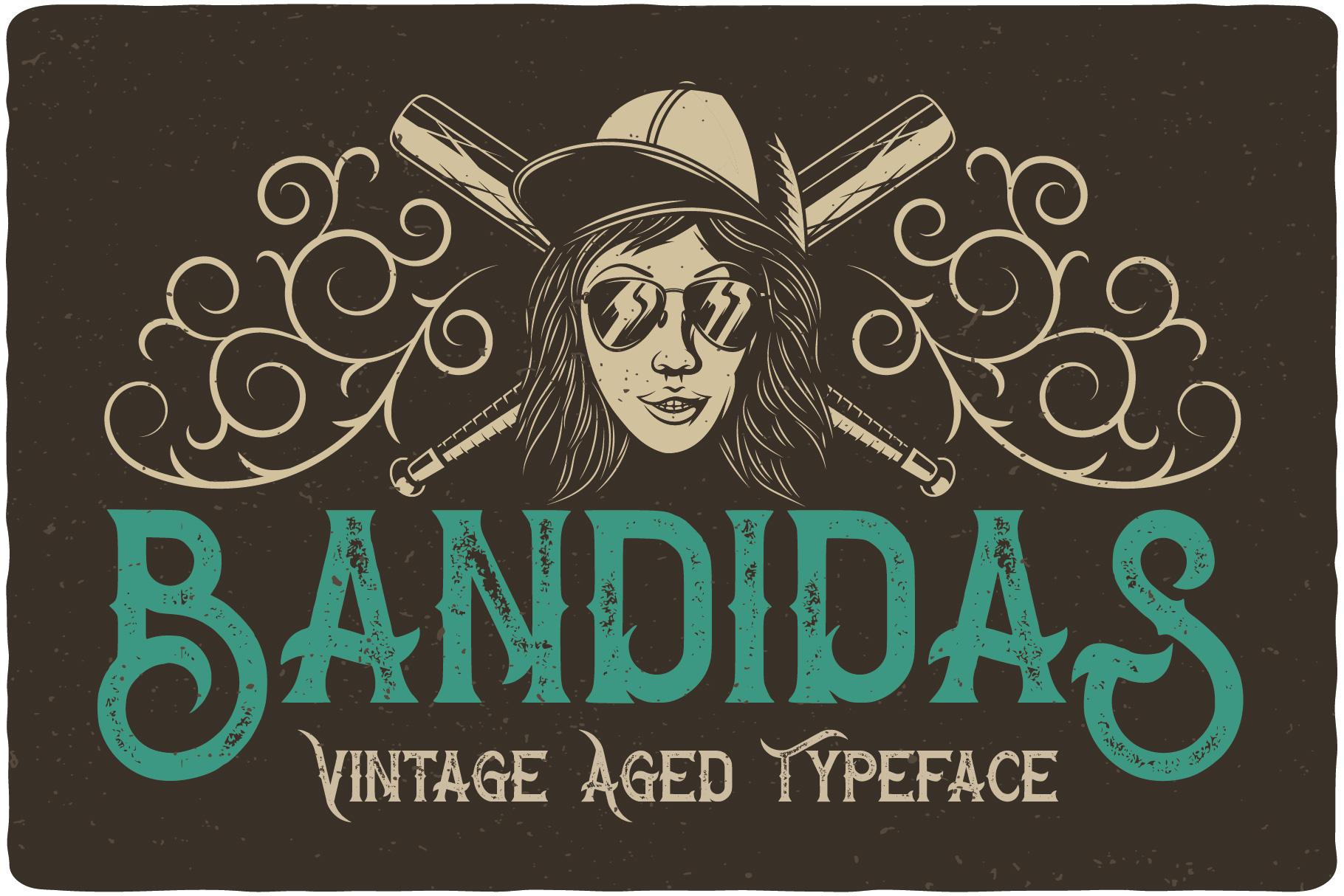 Bandidas - font and t-shirt designs example image 3