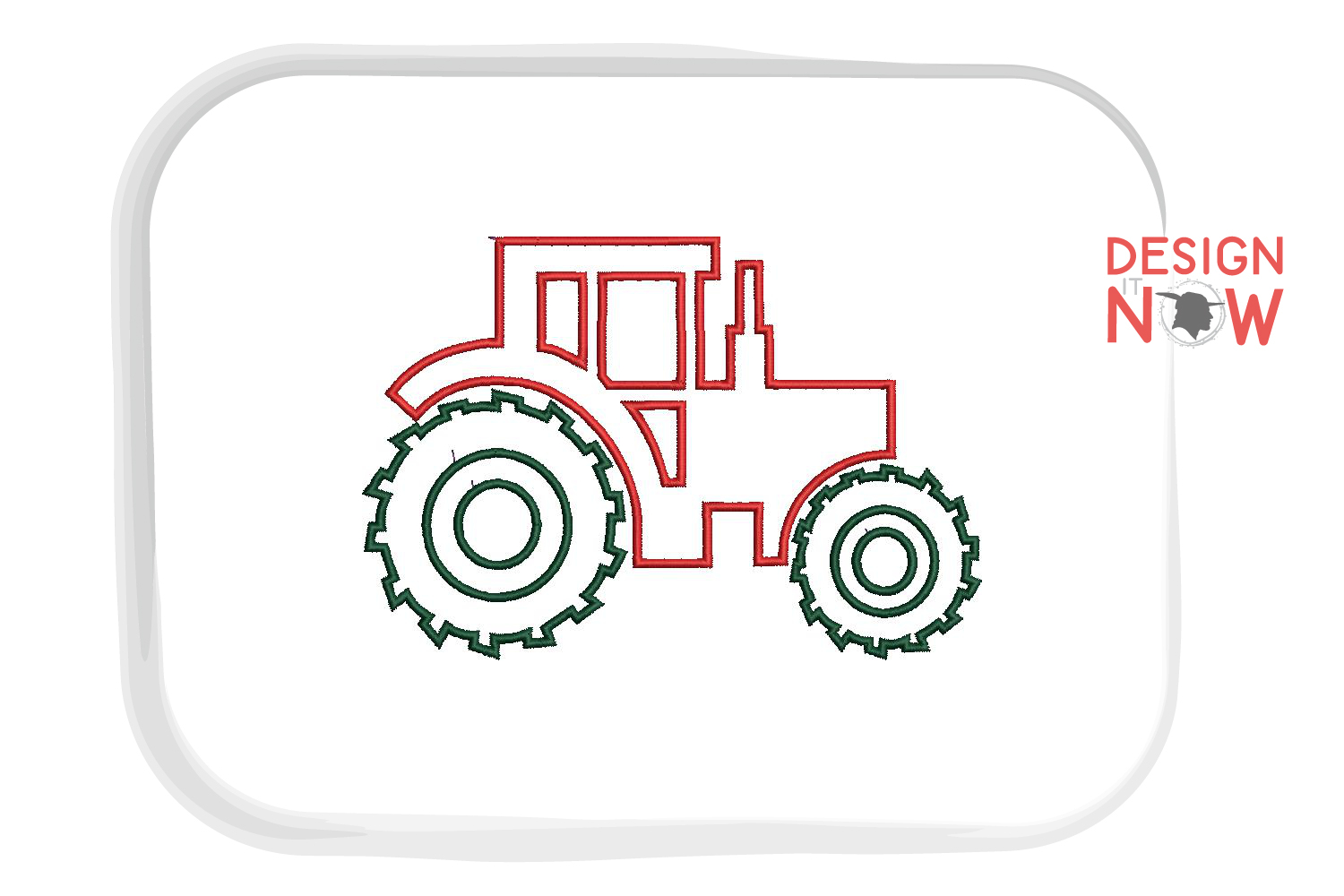 Tractor Applique Embroidery Design, Baby Embroidery Pattern example image 3