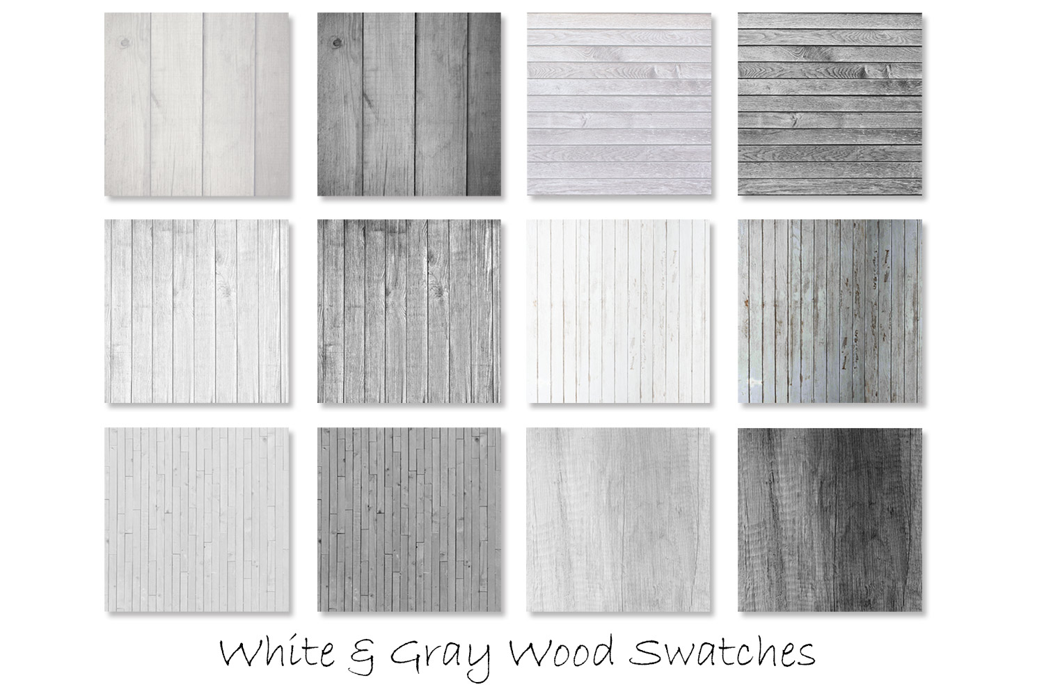 White & Gray Wood Textures - Wood Digital Paper example image 2