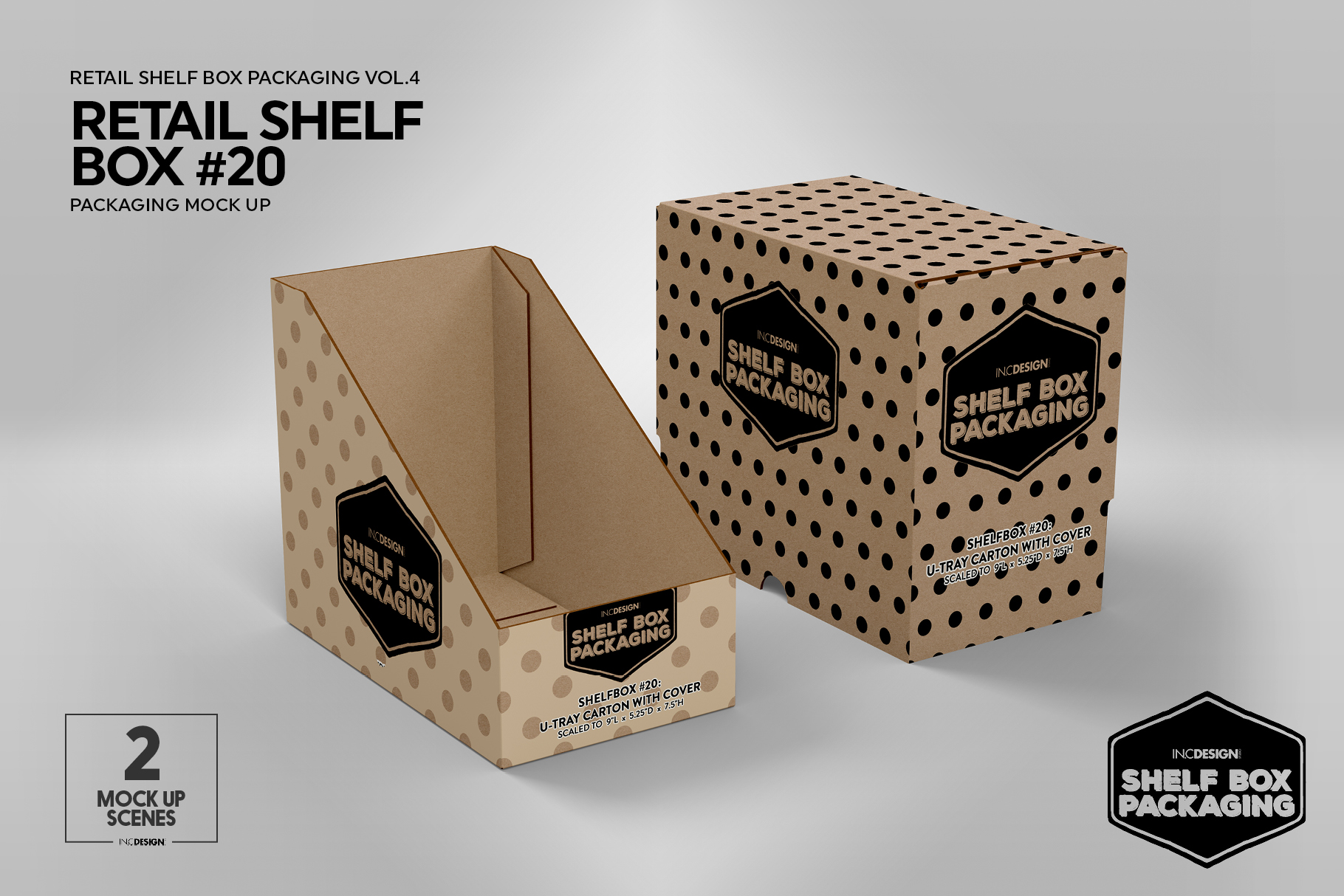 Retail Shelf Box 20 Packaging Mockup example image 6
