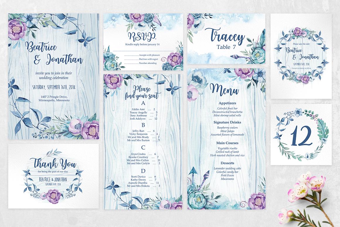 Wedding invitation - BeachyBoho example image 3