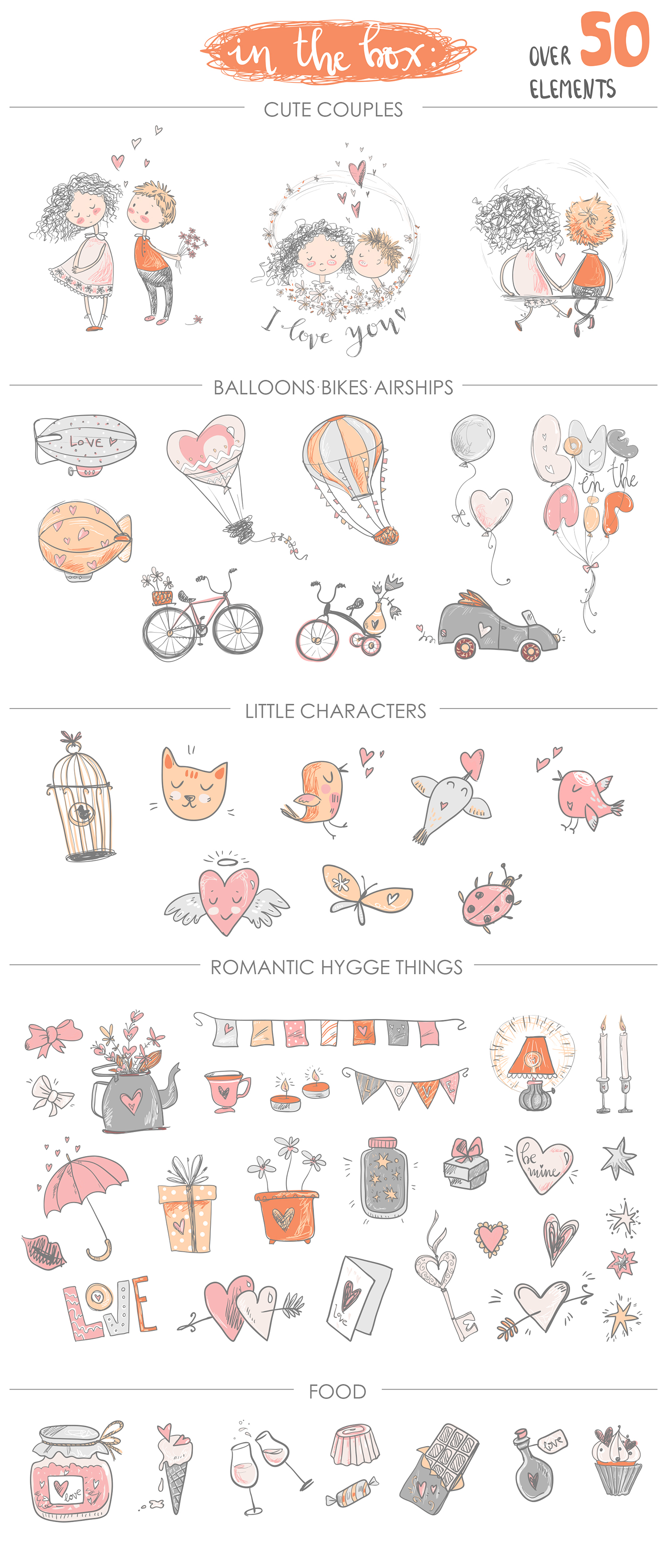 Fall in love, ROMANTIC graphic KIT example image 10