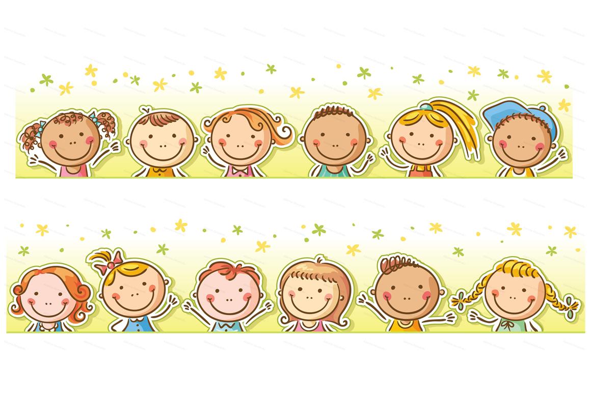 Happy Cartoon Kids Bundle, children doodle, kids doodle example image 21