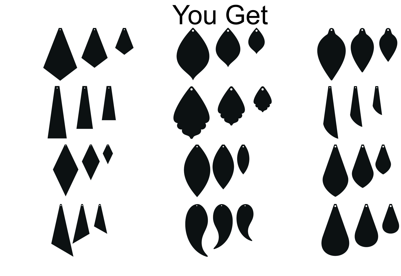 Download Leather Earrings, Earrings SVG, Pendant Template, Cut ...