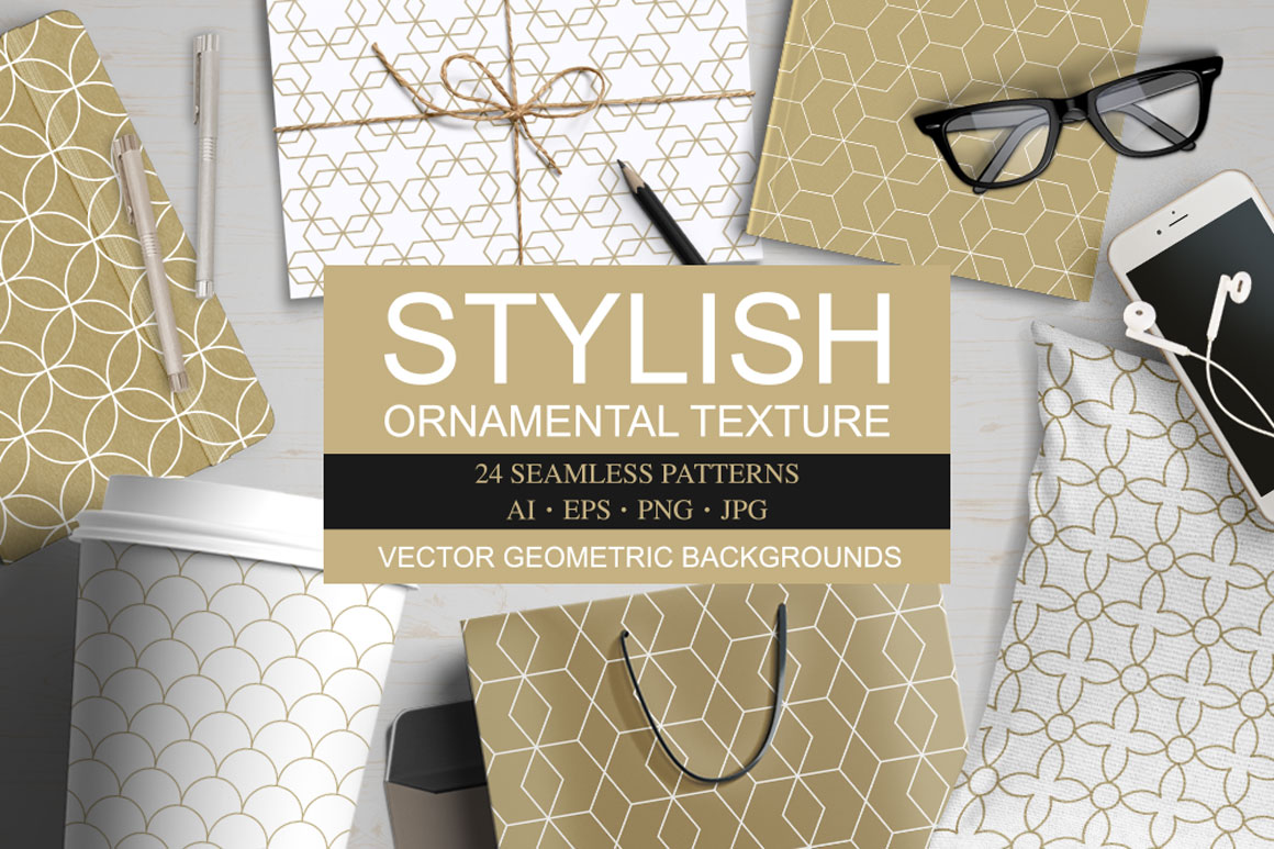 Vector ornamental seamless patterns example image 1