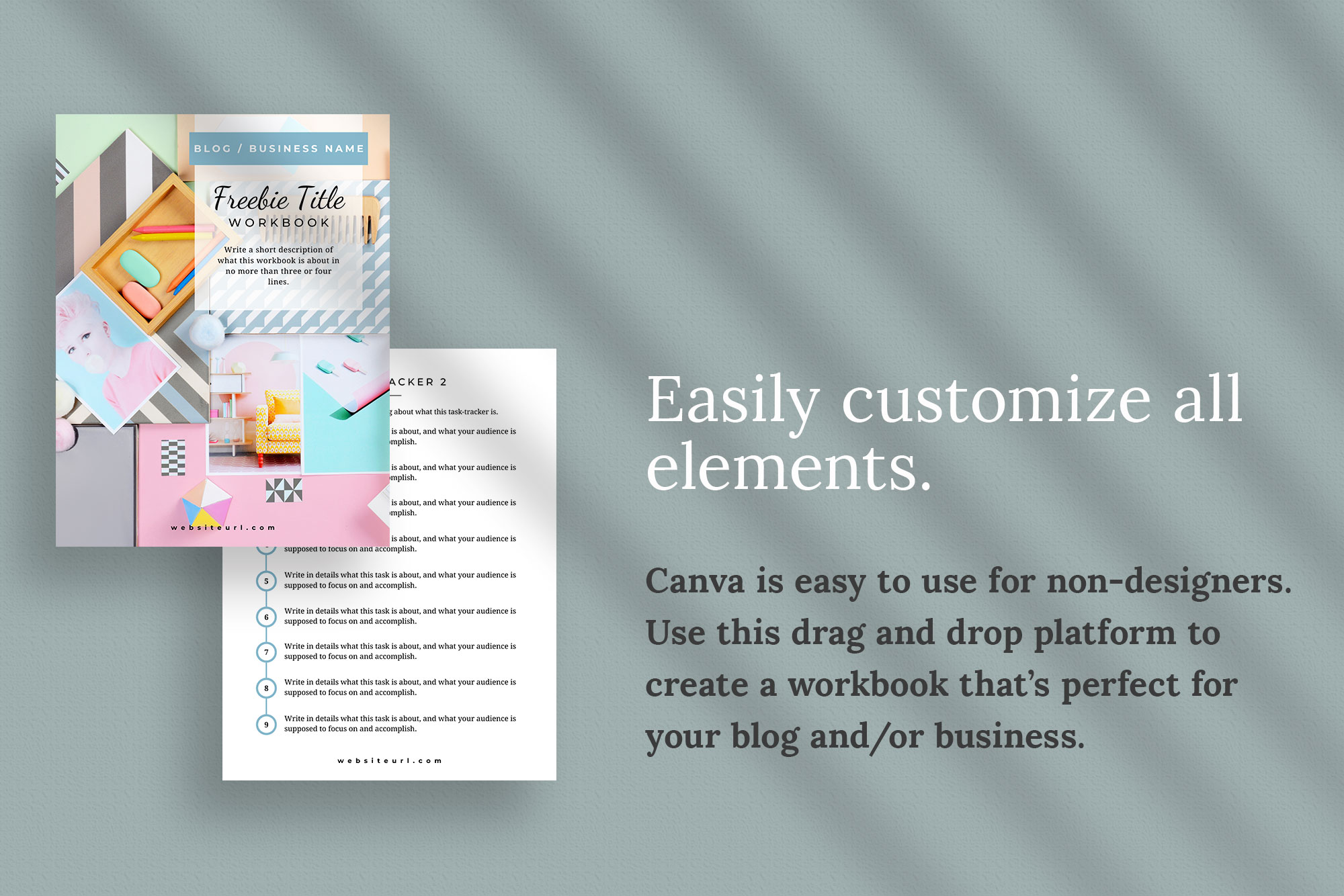 Workbook or Opt-in Freebie Canva Template | Colfax example image 3