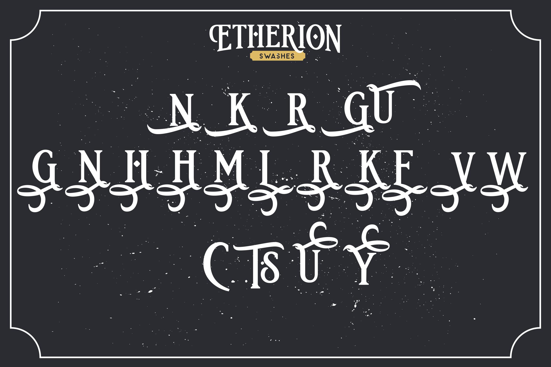 Etherion - Vintage Display font example image 10