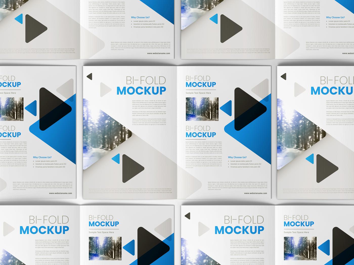 A4 Bifold Mockups V2 example image 13