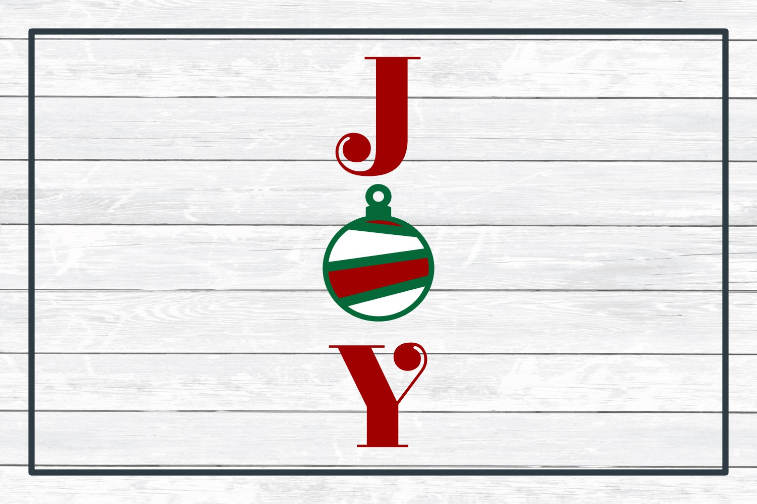 Joy Holiday Porch Sign Design, SVG Cut File for Crafters example image 3
