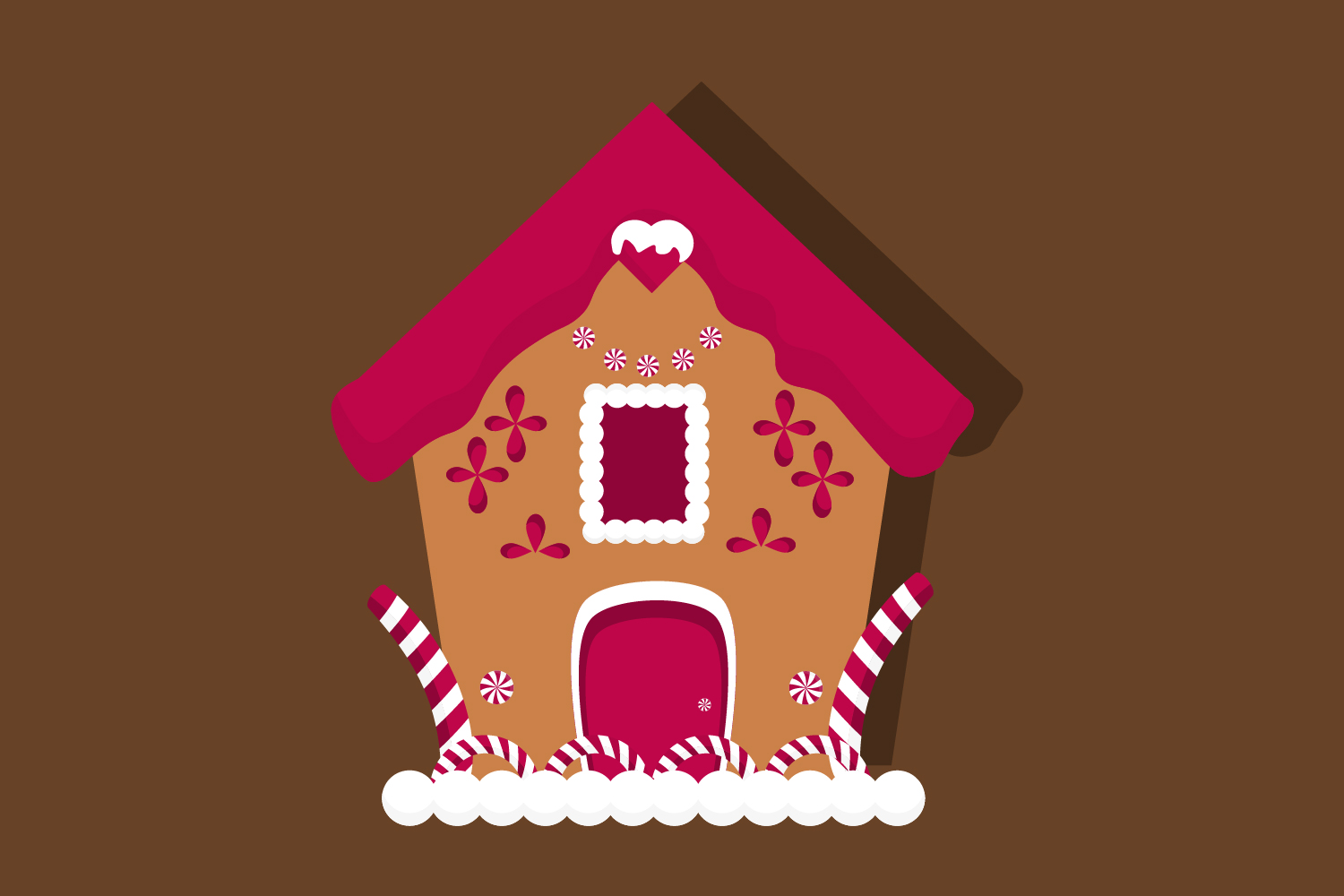 Christmas gingerbread house clipart, christmas example image 2