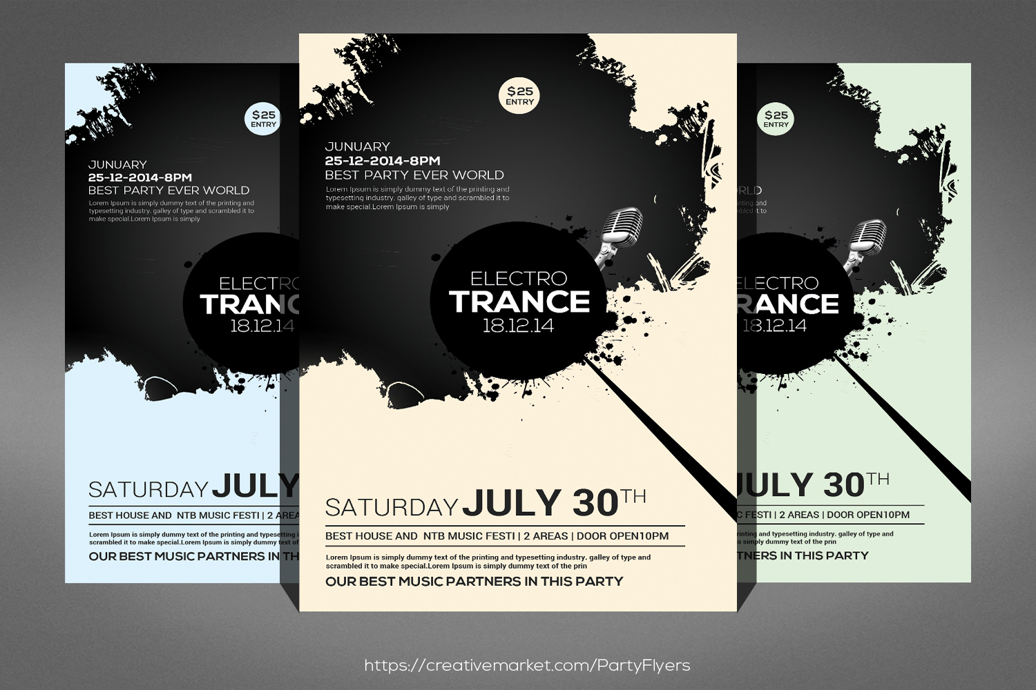 Trance Concert Flyer example image 1