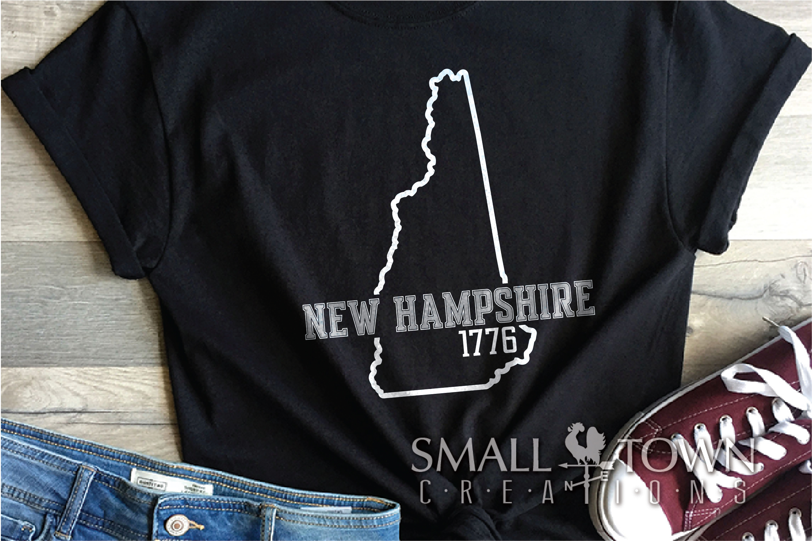 New Hampshire, Scenic - slogan, Logo, PRINT, CUT & DESIGN example image 8