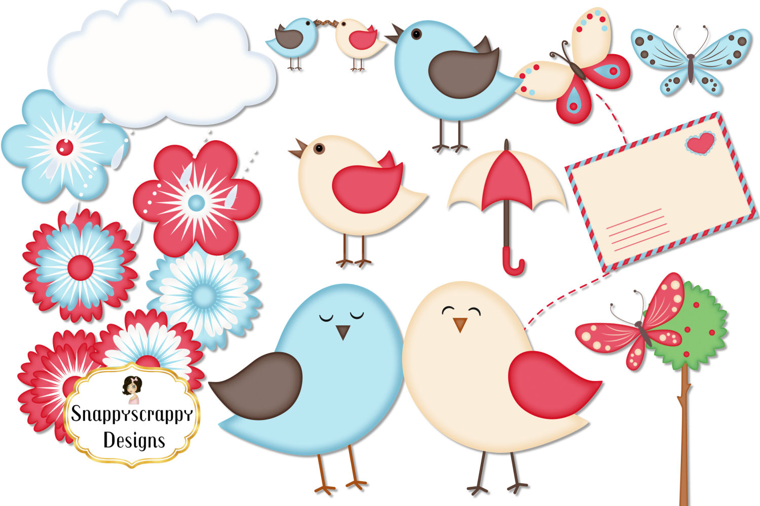 Cute Bird Clipart example image 3
