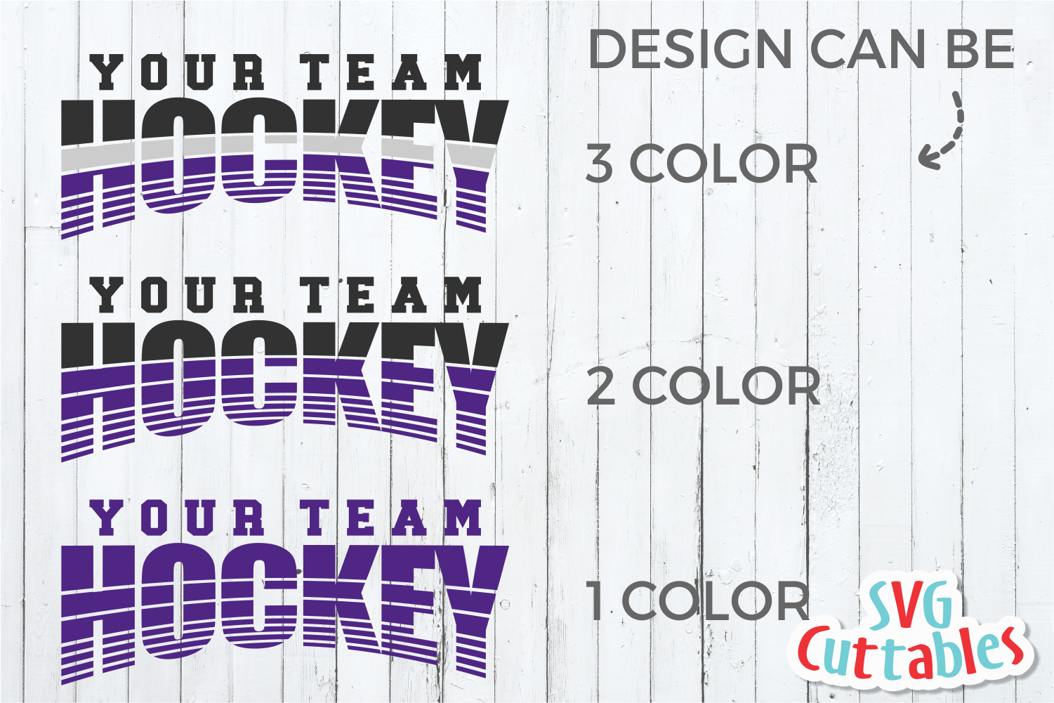 Hockey Template 004 | SVG Cut File example image 3