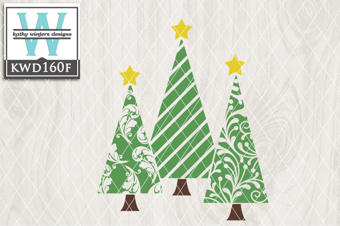 Christmas SVG - Christmas Trees KWD160F example image 1