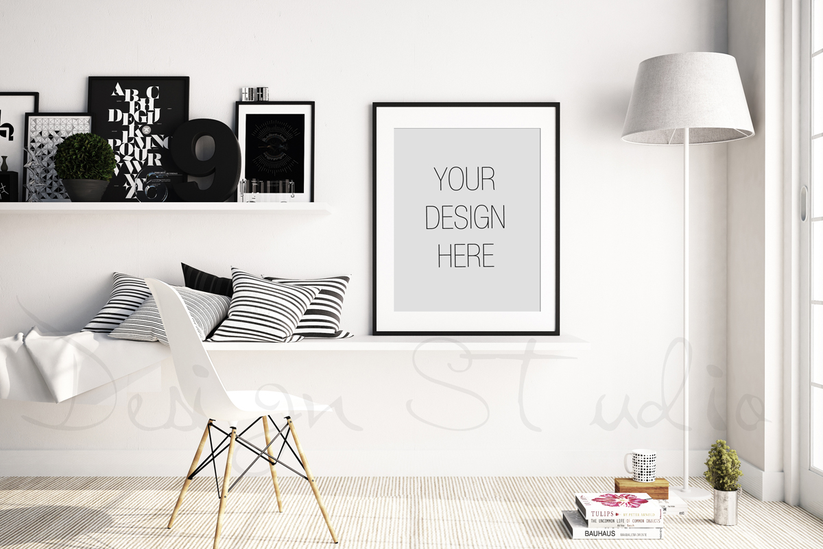 Styled Stock Photography, Scandinavian Frame mockup, PSD Styled Photography Mockup, stock photo example image 2