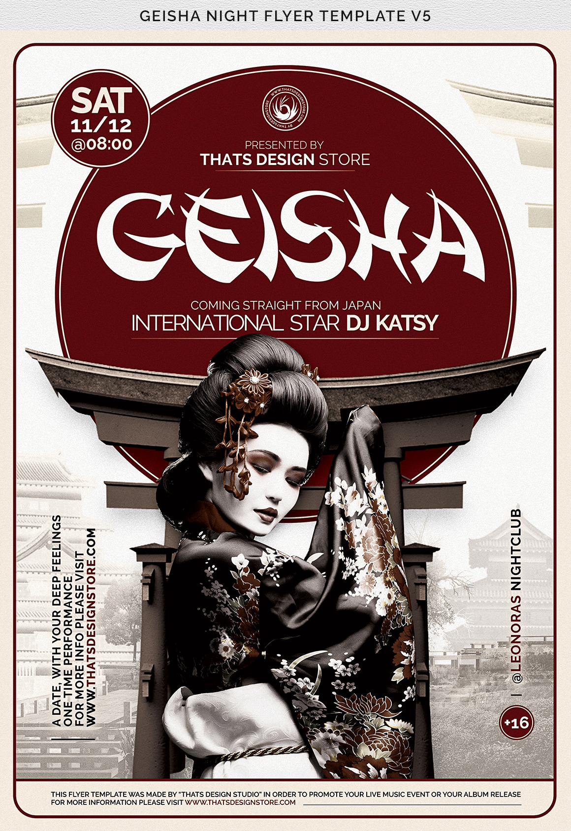 Geisha Night Flyer Template V5 example image 7