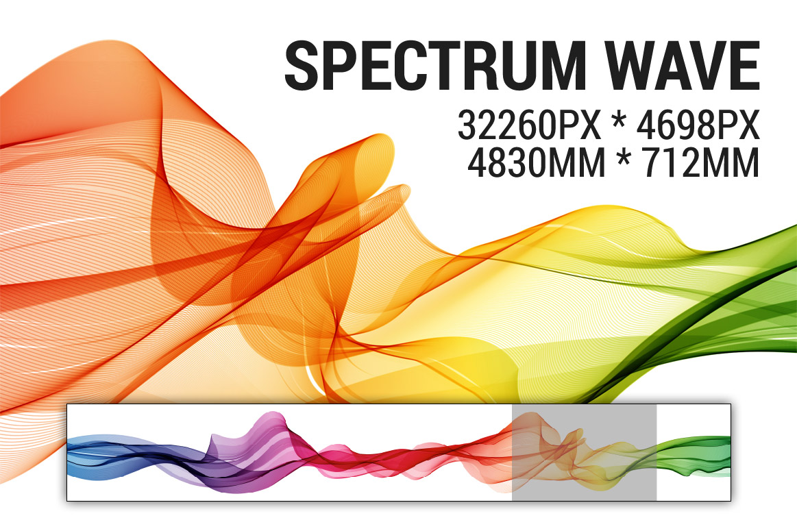 Abstract vector spectrum wave background example image 1