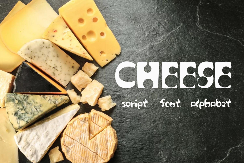 Cheese script / font / alphabet example image 1