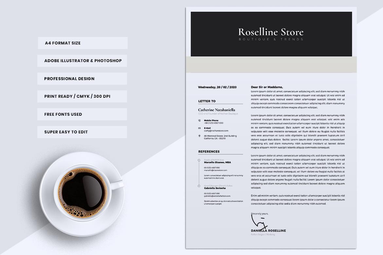 Minimalist CV / Resume Template Vol. 05 example image 4