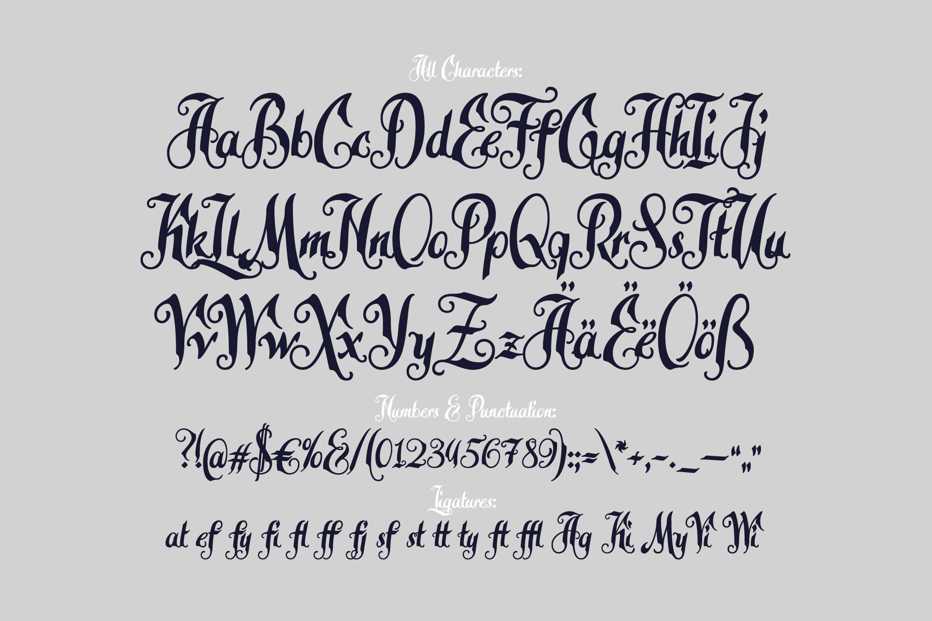 Late Frost font example image 4