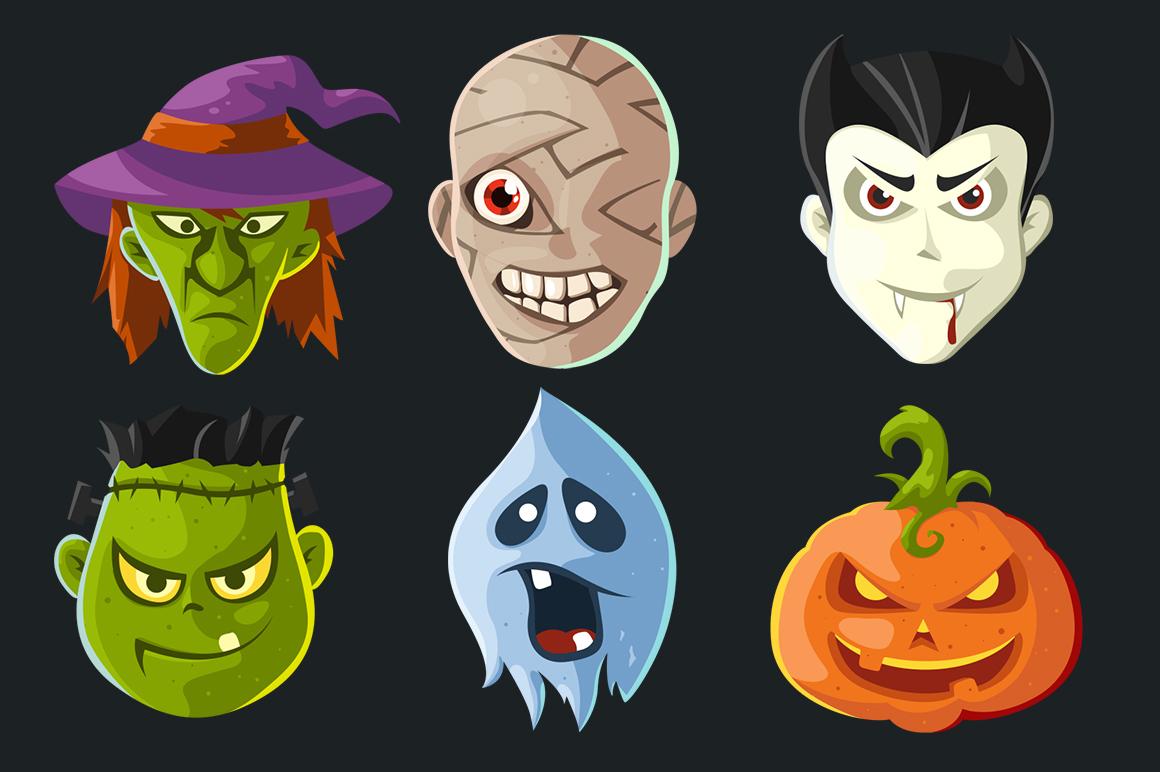 Cartoon Characters & Items Bundle example image 16