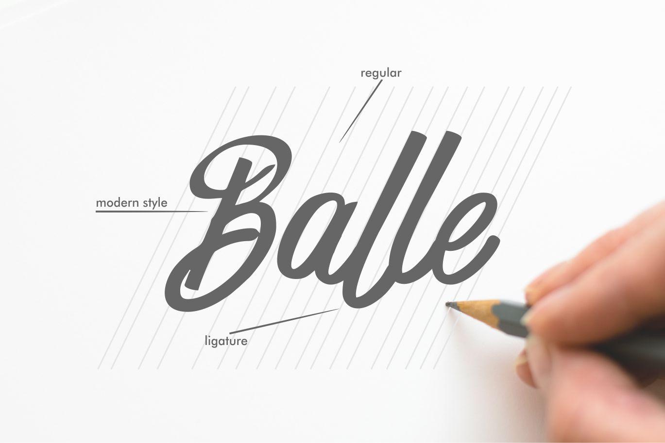 Harbala | Elegant Modern Script Font example image 5