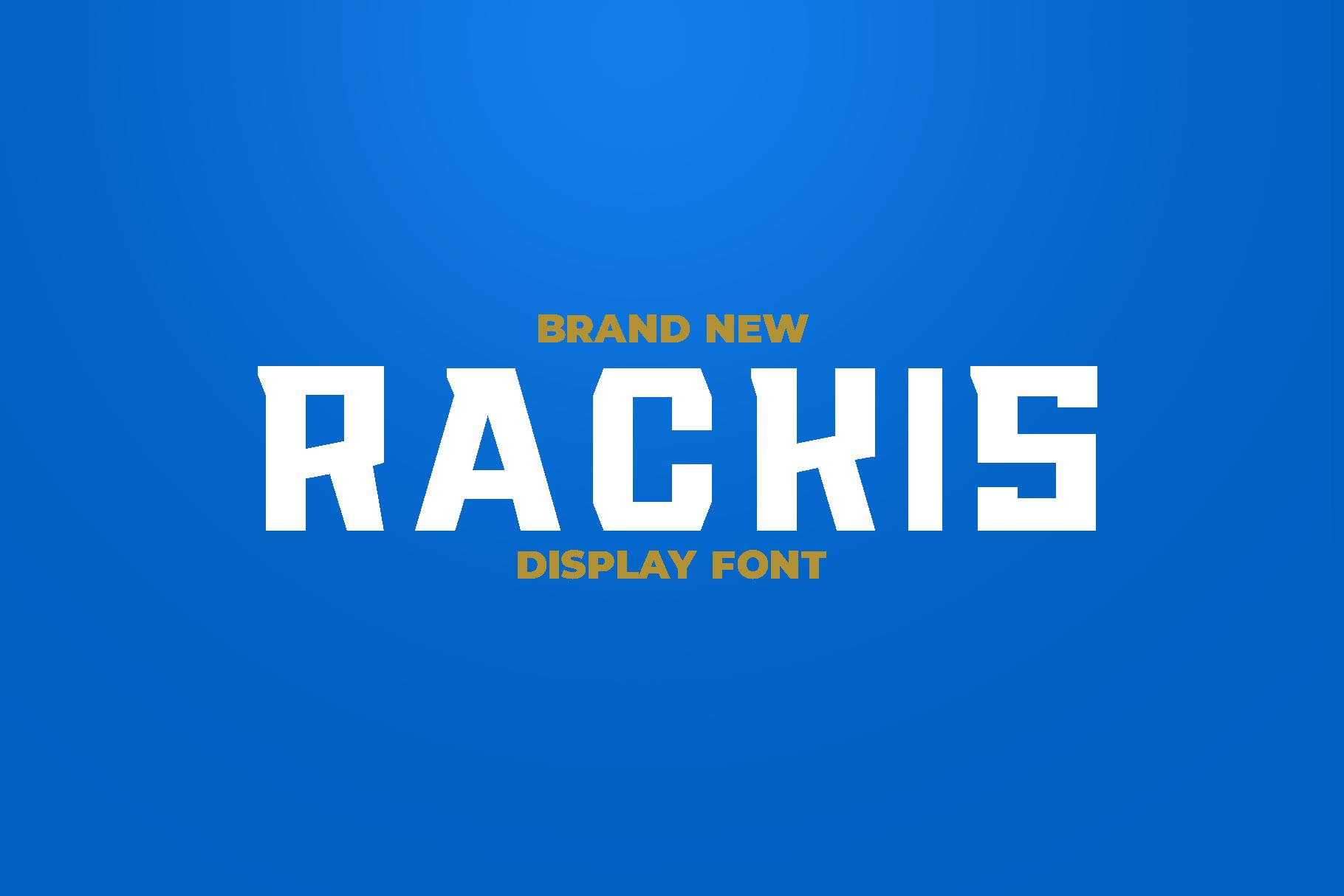 RACKIS Display Font example image 1