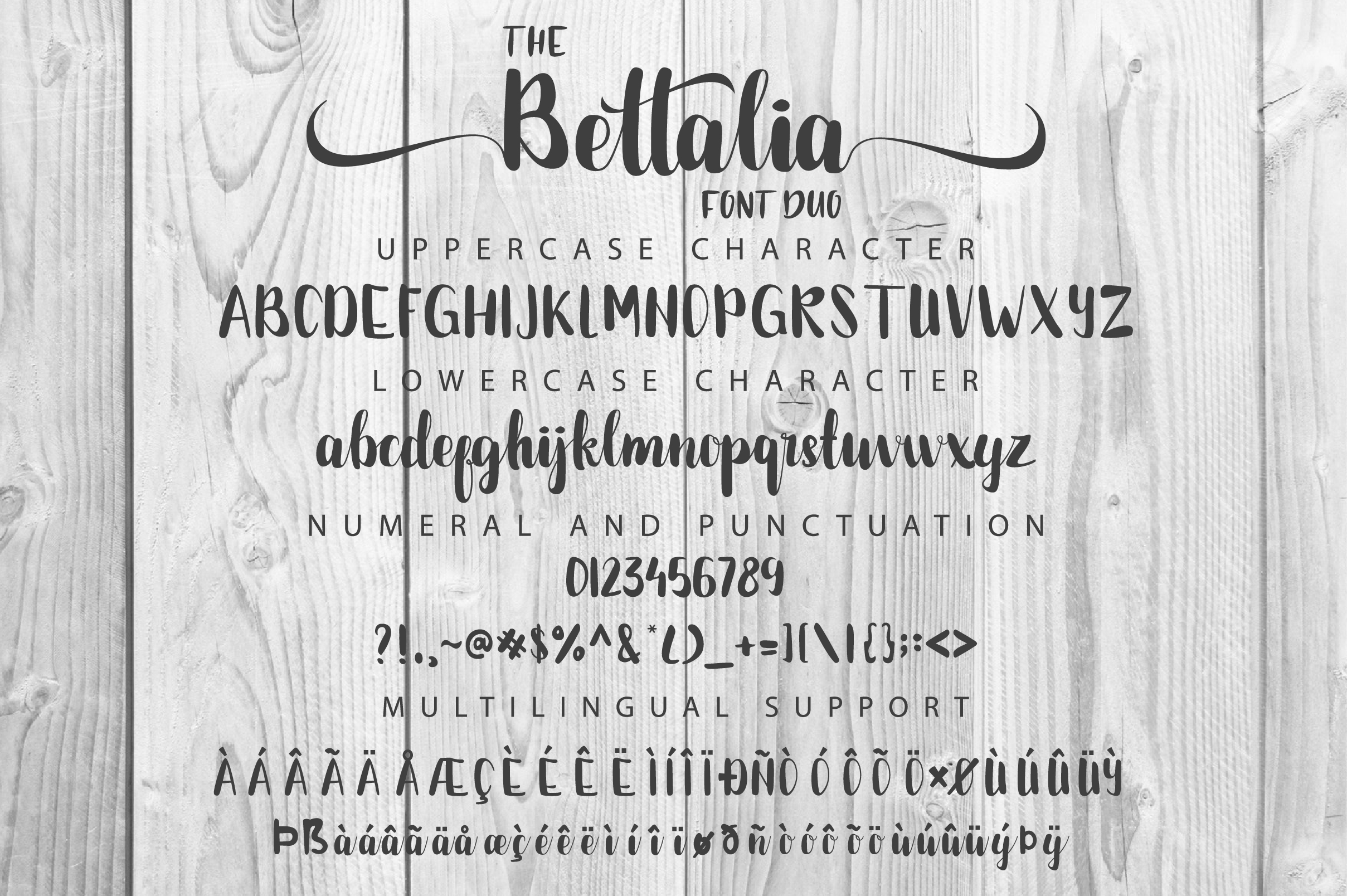 The Bettalia Font Duo example image 2