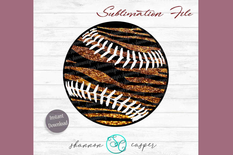 Tiger Glitter Baseball or Softball example image 1