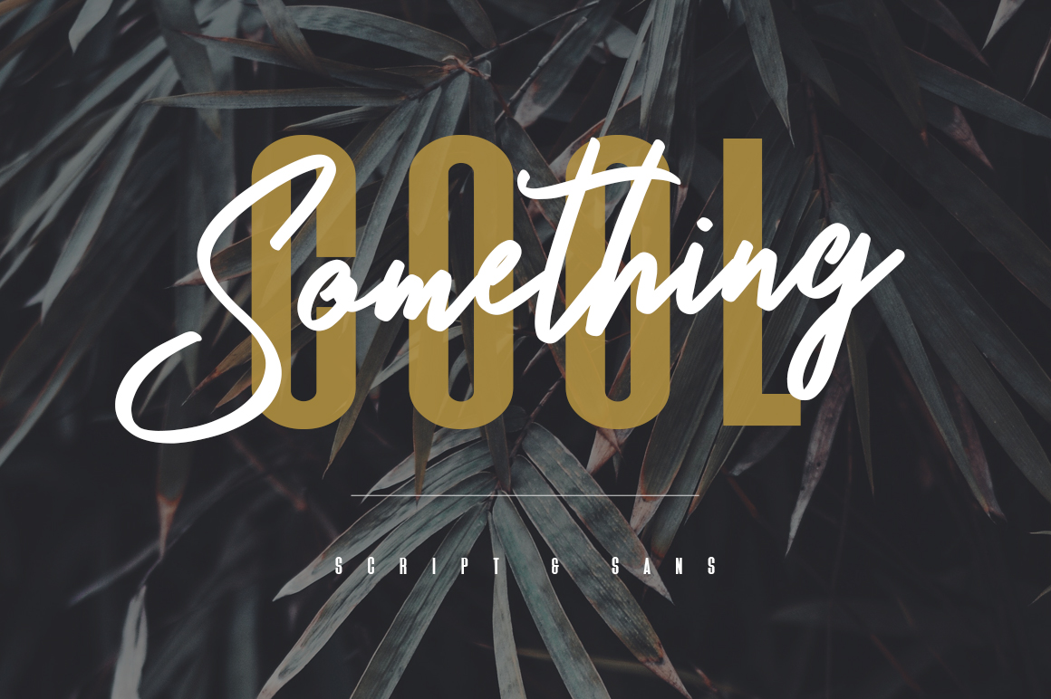 Something Cool - Font Duo example image 1